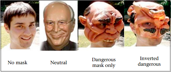 Masks used in facial recognition study. Figure adapted from Marzluff et al. 2010.
