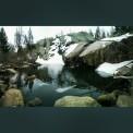 Serene lake on a nearby hike
