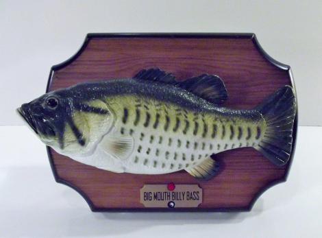 "This '90s (now thrift store) gem might be what most people think of first when ""singing fish"" are mentioned. [Source]"