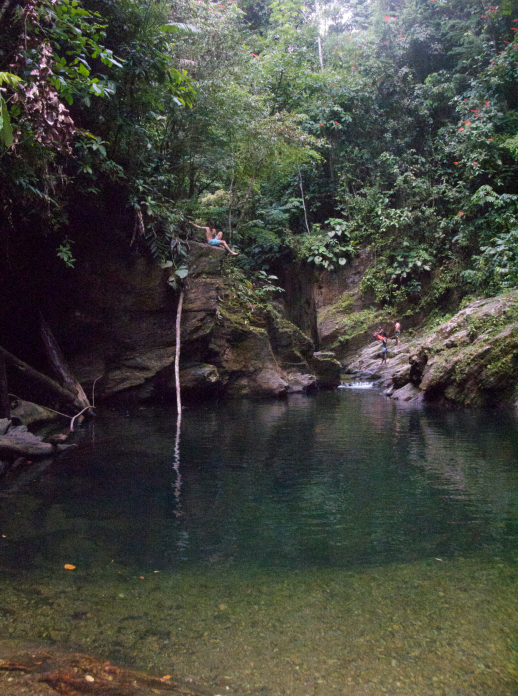 A local swimming hole for enjoying time off