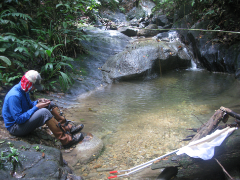 Taking GPS coordinates of a stream