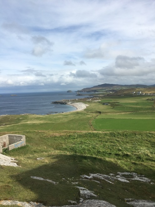 My field site is Malin Head, on the Inishowen Peninsula in County Donegal. This is a known basking shark hotspot. (Photo: Alexandra McInturf)